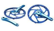 STRiDA genuine alloy chain wheel and crankset (anodised blue)