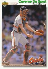 692 BOB MELVIN BALTIMORE ORIOLES BASEBALL CARD UPPER DECK 1992