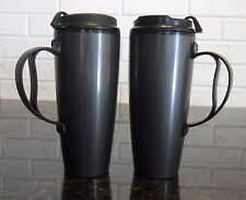 22 OZ GRAPHITE DELUXE TALL INSULATED THERMO SERV TRAVEL MUGS WITH CLOSEABLE LID