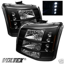 2003-2007 CHEVY SILVERADO 1500HD 2500HD LED CRYSTAL HEADLIGHTS LIGHTBAR BLACK