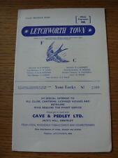 16/12/1967 Letchworth Town v Wokingham Town  (Item in very good condition, no ob