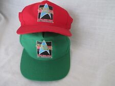 2 Pair Vintage Star Trek 1991 25th Anniversary Snapback Adult Hat Universal