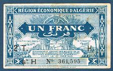 ALGERIE - 1 FRANC Pick n° 101. de 1944. en TTB  2T H 361.595