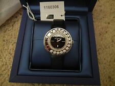 Authentic Swarovski Lovely Crystals Stainless Steel Watch- Anthracite  #1160306