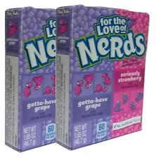 2 x Wonka For The Love Of Grape And Strawberry Nerds 46.7g American Sweets - New