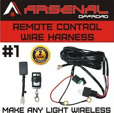 #1 Remote Control Wiring Harness Kit Switch Relay Led Light Bar 120W 240W 300W