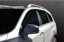 Smoke Tinted weathershields for 06/2006 ~ 2015 Holden Captiva 7 Series I & II