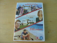 DVD - Exotic Marigold Hotel - we bought A Zoo - The Descendants - FREE UK P&P