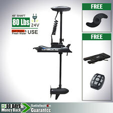 Haswing 24V 80lbs Bow Mount Electric Trolling Motor Variable Speed Quick Mount
