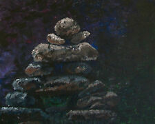 'MUSKOKA MOONLIGHT' - Contemporary Acrylic Painting on Canvas - Canada - C. 2011