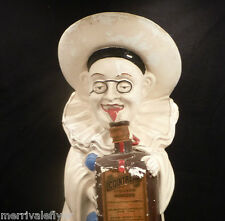 "Antique Chalkware BIG! 14"" COINTREAU Liqueur Advertising BAR DISPLAY CLOWN 1930"