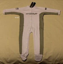 Erebus Motorsport V8 Infant Boys White Onesie Romper Grow Suit Size 1 New