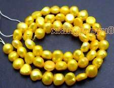 """SALE 5-6mm Natural Gold BAROQUE Freshwater Pearl Loose Beads strand 14""""-los595"""