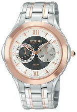 SEIKO SGN018 MEN'S DRESS/SPORT DAY & DATE TWO-TONE STAINLESS STEEL WATCH