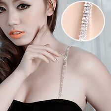 Hot Crystal Adjustable Bra Back Straps diamante Rhinestone Bra 1 pair