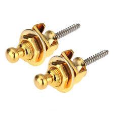 Gold Head Chrome Skidproof Belt Buttons Strap Lock for Guitar Bass T1