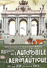 Brussels Auto Cycle - 1913 Advert A3 Art Poster Print