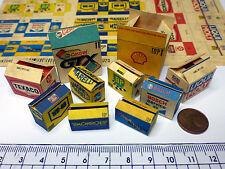 10 Diverse Color Kartons in 1:18-1:20 für Diorama,Modell Garage Werkstatt