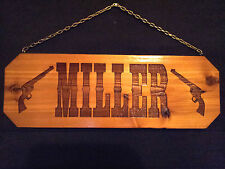 Family Name Laser engraved  sign, Personalized Gift, Custom Sign