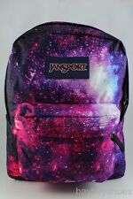 JANSPORT HIGH STAKES MULTI INTERGALACTIC GALAXY BLACK/PURPLE SUPERBREAK BACKPACK
