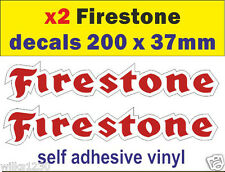 x2 Firestone tyres rally race car classic decals van mini bus truck sticker