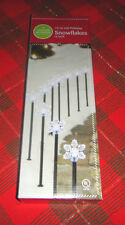 "Christmas Outdoor 10 Lit LED Pathway Snowflake Lights 12""H 9' Long ~ Fast Ship"