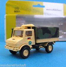 Minitanks H0 5001 UNIMOG U 1300 ISAF Bundeswehr getarnt HO 1:87 OVP Roco Herpa