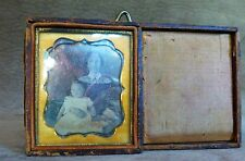 DAGUERROTYPE IMAGE OF MOTHER AND CHILD - IN CASE