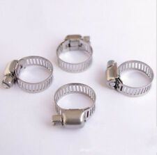 "10 Pcs Stainless Steel Adjustable Drive Hose Clamps Fuel Line Worm Clips 3/4""-1"""