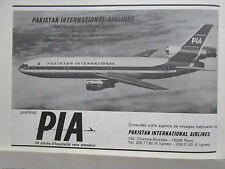 10/1973 PUB COMPAGNIE AERIENNE PIA PAKISTAN AIRLINES DC-10-30 AIRLINER FRENCH AD
