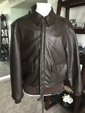 Gibson & Barnes A-2 Brown Flight USAF Bomber Leather Goatskin Jacket 42R L Nice!