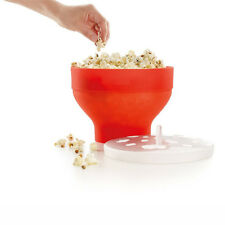 Popcorn Popper Popcorn Maker Silicone Pop Corn Bowl Microwave Bucket Lid