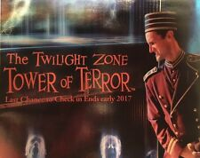 Disney California Adventure Tower Of Terror Closing Final Map Disneyland + BONUS