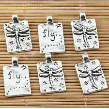 10pcs Tibetan silver dragonfly fly charms EF1650