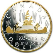 2015 Canada Voyageur Renewed Pure Silver Dollar 2 Oz Proof $1 Masters Club