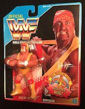 "HULK HOGAN Hulkster Hug USA card 1990 Hasbro Classic WWE 4"" Legend action figure"