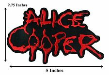 Alice Cooper Name Badge Embroidered Punk Patch Rock Music Iron On Jacket #28