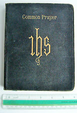 1895 large format BOOK OF COMMON PRAYER large type VGC leather gilt CUP