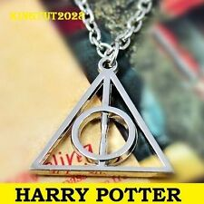 COLLANA HARRY POTTER DONI DELLA MORTE TRIANGOLO DEATHLY HALLOWS ARGENTO NECKLACE