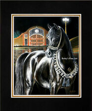 "Matted Arabian Mare ""Midnight Jewel"" Horse Print 8""x10"" Mat by Roby Baer PSA"