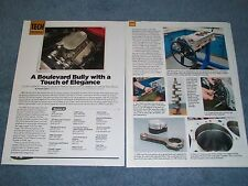 "509 Chevy W-Series Engine Build Tech Info Article ""A Boulevard Bully..."" 409"