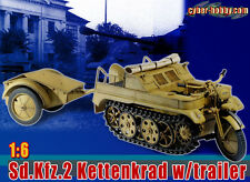 "Dragon Cyber Hobby WWII German 1/6 Scale 12"" Kettenkrad & Trailer Sd.Kfz.2 71271"