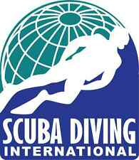 "Scuba Diving Car Bumper Sticker 4"" x 5"""