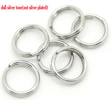100 STAINLESS STEEL SPLIT RINGS~HYPOALLERGENIC~7x0.7mm~ Charms~Pendants~Sew (1D)
