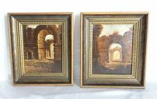 Pair of Original Oil on Canvas Paintings of Egyptian Scenes in Ornate ... Lot 85