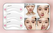 3 Styles Eyebrow Template Grooming Stencil Kit Makeup Shaping Shaper -USA SELLER