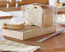 Bread Slicer Deluxe Slicing Guide Loaf Crumb Tray Chopping Board NEW (UK SELLER)