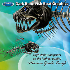 Dark Bone Fish Graphics - set of 300mm Boat Graphics