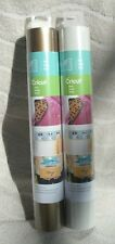 "Cricut® (2) Vinyl 12"" x 48"" Rolls In ""Gold"" & ""Pebble"" ~ NEW"