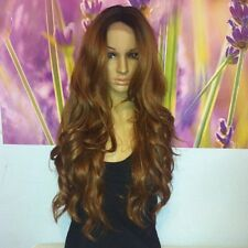 Ombre dark roots to chocolate brown   Lace Front wig 24' heat resistant.
